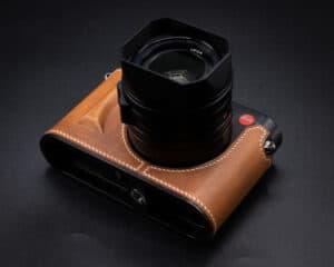 เคสกล้อง Leica Q2 Kontice สีน้ำตาล