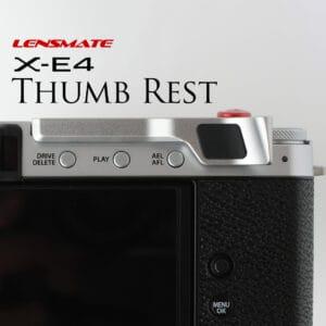 ที่พักนิ้ว Fuji XE4 สีเงิน Lensmate Thumb Rest Silver