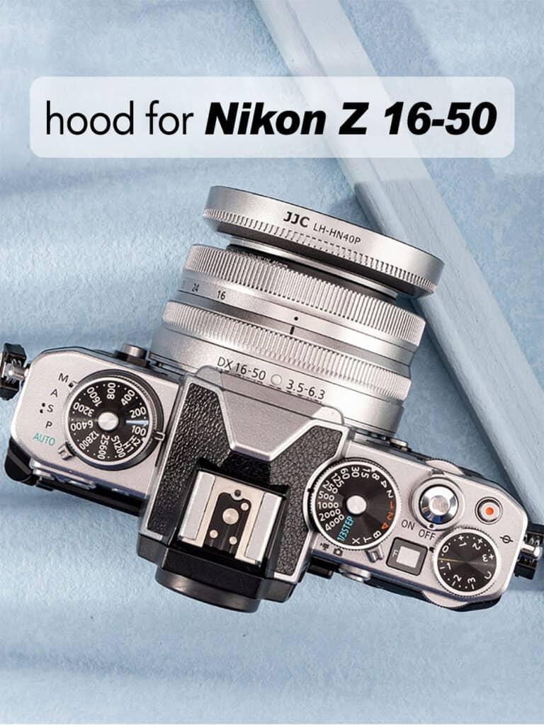ฮูดเลนส์ Nikon Z DX 16-50 JJC HP-40P สีเงิน