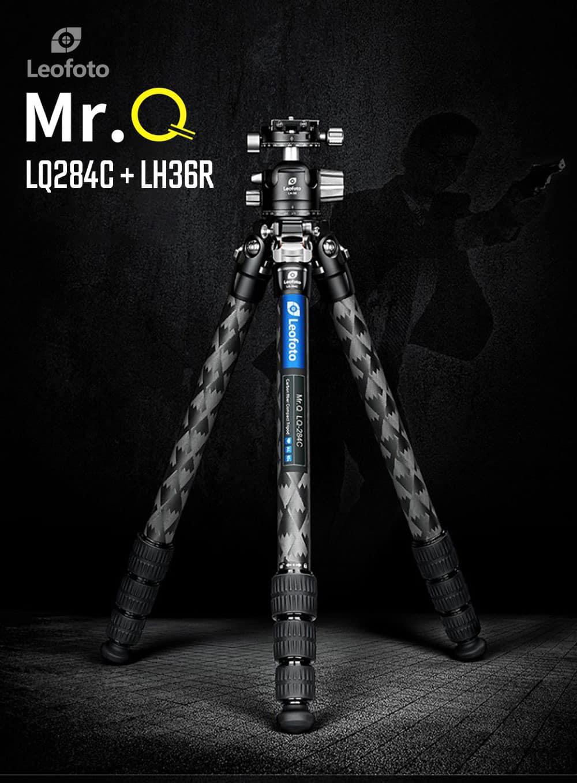 ขาตั้งกล้อง LeoFoto Mr.Q LQ284C + LH36R Carbon Fiber Tripod พร้อมหัวบอล