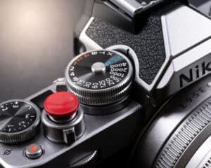 ปุ่มกล้อง JJC สีแดง แบบ Sticker