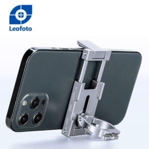 ที่จับมือถือ ตั้งบนขาตั้งกล้องได้ LeoFoto PC60 สีเงิน แคลมป์ Smartphone Holder